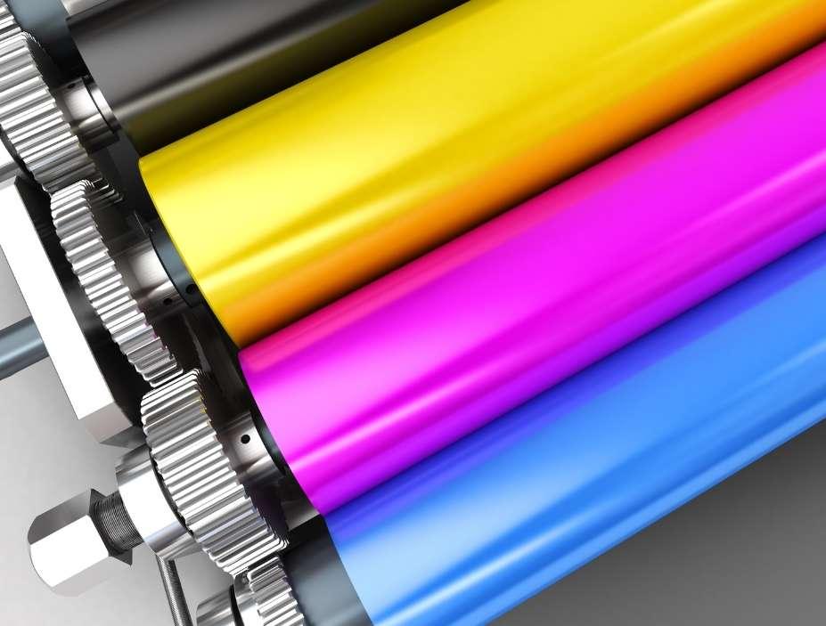 rodillos impresora color cmyk