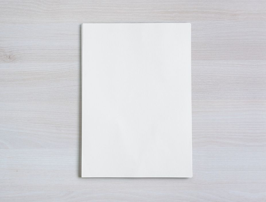 hoja de papel tamaño din a4
